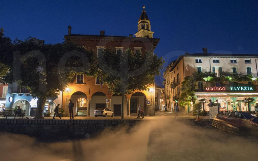 Ascona foggy night