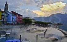 foggy port Ascona
